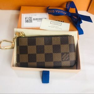 Authentic Louis Vuitton Key Pouch Damier Ebene